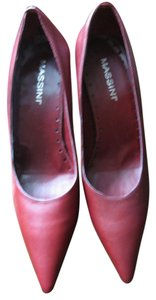 Massini Leather Pointy Brazil Deep Red Maroon Formal