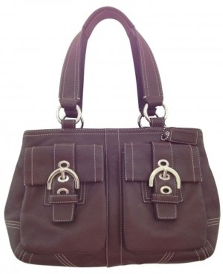 Preload https://item1.tradesy.com/images/coach-medium-size-with-pockets-brown-leather-satchel-6195-0-0.jpg?width=440&height=440