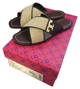 Tory Burch Culver natural/Black Sandals