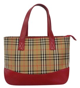 Burberry Tote in Brown and red