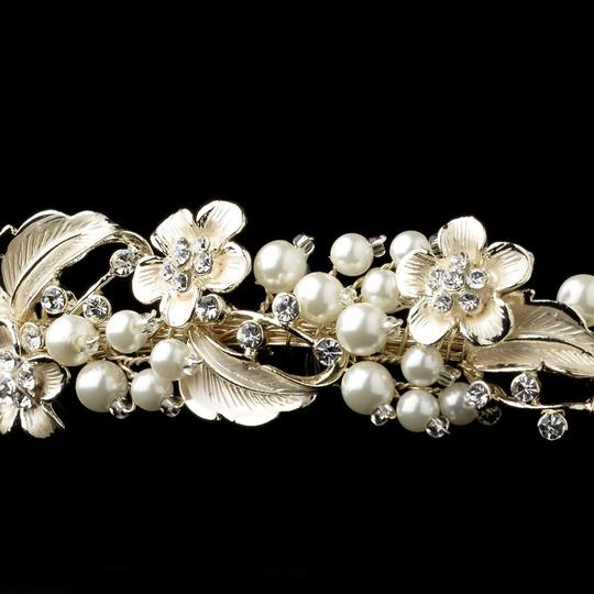 Elegance by Carbonneau Light Gold/Ivory Pearl Headband Hair Accessory