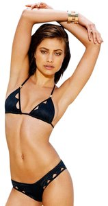 Beach Bunny NWT Beach Bunny Jagged Edge Black Cut Out Bikini Top Sz L