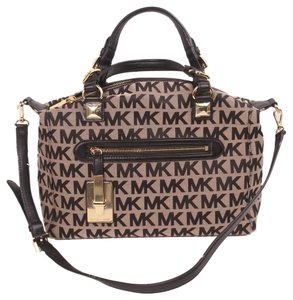 MICHAEL Michael Kors Calista Large Satchel in Black