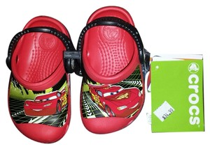 Disney Crocs Baby Infant Red Mules