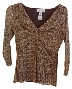 Nine West Top Brown and gold