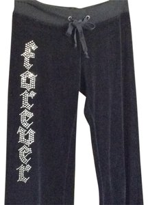 Tankh track pants Athletic Pants Black with swarvoski crystals