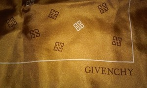 Givenchy 100% Silk Gold Givenchy Scarf