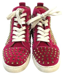 Christian Louboutin Velvet High Top Pink Athletic