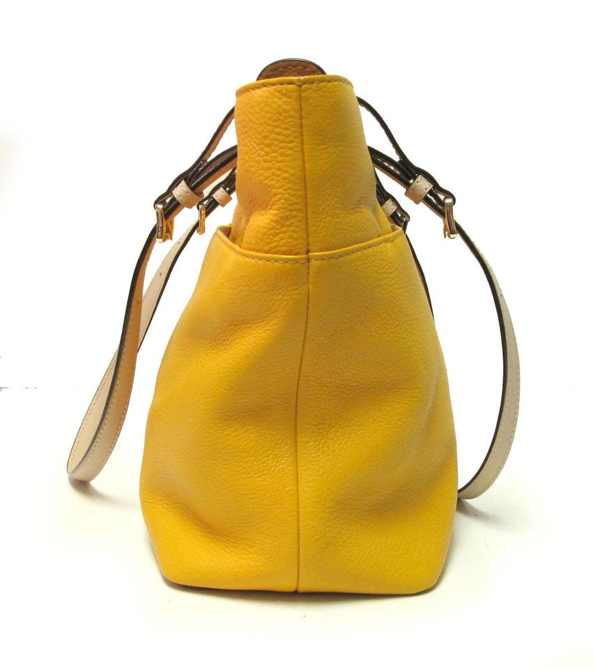 ae47931a733c ... Michael Kors Pebbled Bedford Yellow Leather Tote - Tradesy ...