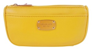 Michael Kors Michael Kors Jet Set Travel Cosmetic Leather Pouch Case NWT Yellow