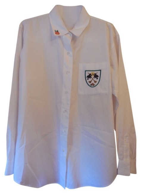Preload https://item2.tradesy.com/images/talbots-white-large-halloween-button-down-blouse-size-12-l-6198646-0-0.jpg?width=400&height=650