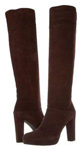 Stuart Weitzman Crushable Knee High Knee-high Heels Heel Leather Size Suede Timber Tall 8.5 Brown Boots