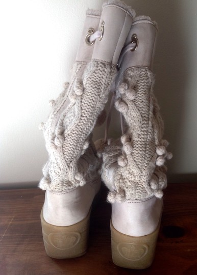 Juicy Couture Pom Pom Sweater Gold Accent Juicy couture Boots
