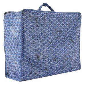Goyard Luggage Suitcase Travel Blue Travel Bag