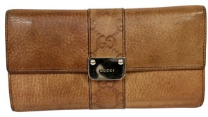 Gucci Gucci Large Soft Leather GG Monogram Distress Italian Hide Leather With Chrome Logo XL