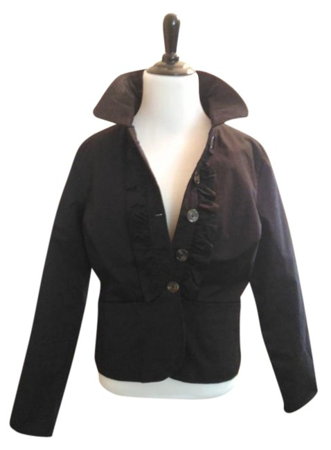 One A Ruffle Detailing New W Tags Lining Perfect W Jeans Well Made Black Jacket