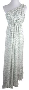 White-Green Maxi Dress by Thomas Wylde One Shoulder