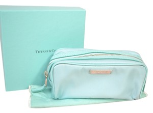 Tiffany & Co. Authentic New Tiffany & Co. Classic Blue Nylon Cosmetic Bag Pouch
