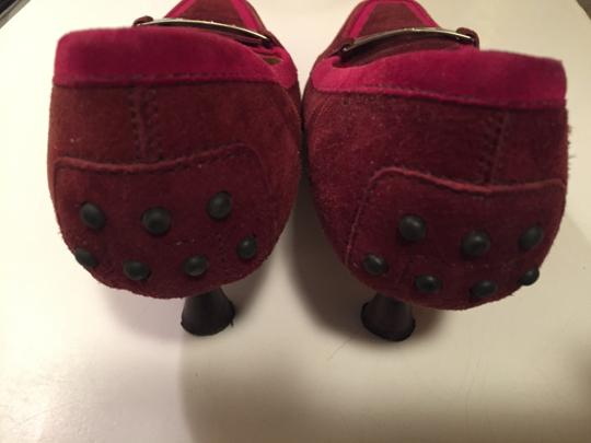 Tod's Burgundy Suede Pumps