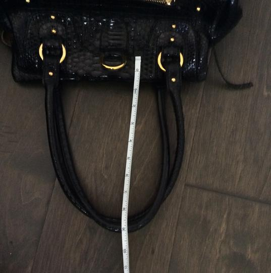 Genuine Python Gucci Prada Valentino Hobo Snake Skin Satchel in Genuine Python- black