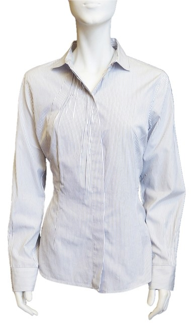 Preload https://item2.tradesy.com/images/brunello-cucinelli-white-navy-striped-spread-collar-shirt-blouse-xl-button-down-top-size-16-xl-plus--6200626-0-0.jpg?width=400&height=650
