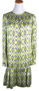 Thomas Wylde Lime Lily Long Sleeve Silk Size Small Dress
