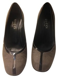 Gucci Classic Chunky Taupe Pumps