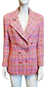 Chanel Vintage Tweed Fantasy Blazer Pink, Multi-color Jacket