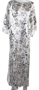 Black & White Maxi Dress by Thomas Wylde Pink Rose Skull Oversize Silk