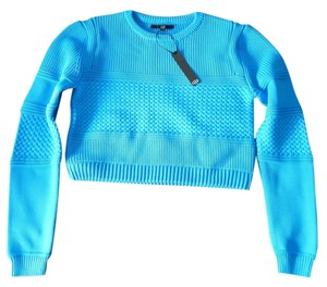 Tibi Sailor Crop Cropped Fall Knit Bright Sweater