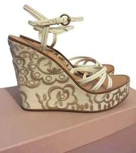 Miu Miu Wedge Latte Wedges