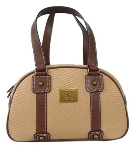 Burberry Leather Tote in brown and beige