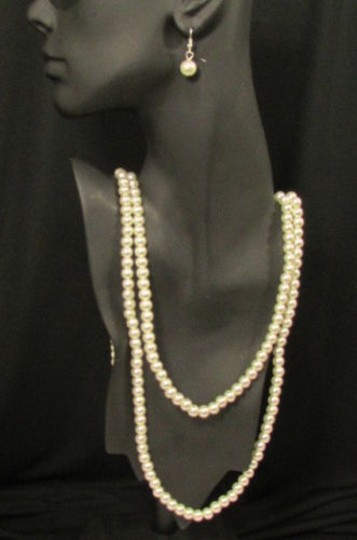 Other Women Necklace Strands Imitation Pearl Beads Earrings