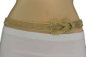 Other Women Gold Mesh Braided Metal Fashion Belt Hip High Waist