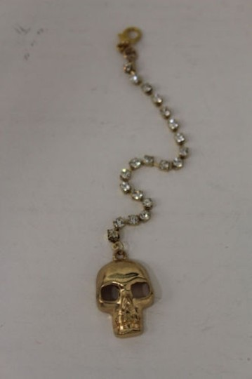 Other Women Back Pendant Necklace Gold Skull Jewelry Silver Beads