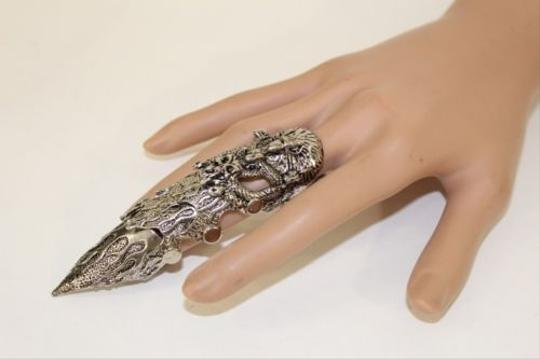 Other Women Men Antique Silver Knuckle Ring Snake Eagle Skull Gothic