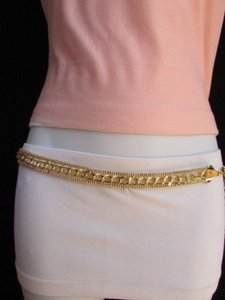 Women Chains Belt High Waist Hip Thick Gold Metal Chunky 30-40