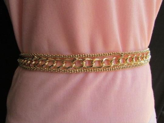 Other Women Chains Belt High Waist Thick Gold Metal Chunky 30-40