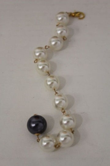 Other Women Back Pendant Long Metal Chain Jewelry Big Pearl Beads