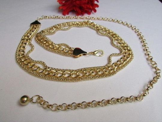Other Women Fashion Belt High Waist Hip Thick Gold Metal Chunky Chains