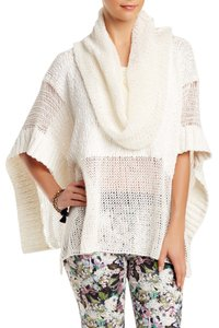 Love Token Poncho Cable Knit Cape Sweater