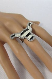 Other Women Metal Silver Western Bull Head Ring Fashion Adjustable