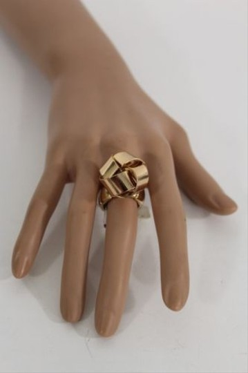 Other Women Fashion Metal Ring Silver Gold Big Bow Rope Knots Twist