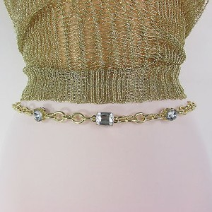 Women Metal Belt High Waist Hip Gold Chunky Wide Chain Beads Link Hot