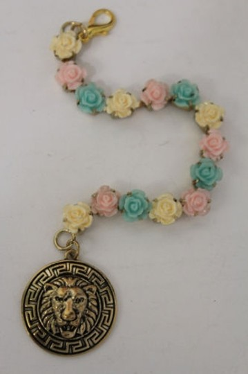 Other Women Back Pendant Necklace Gold Metal Chains Lion Head