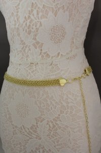 Women Belt High Waist Hip Gold Metal Thick Chain Link Stands Fashion