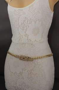 Other Women Belt High Waist Hip Gold Metal Chunky Chain Link Fashion Long Buckle