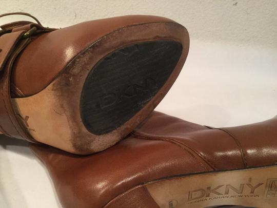 DKNY Brown all leather stiletto heels convertable ankle Boots