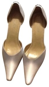 Grace Footwear White Silk like Diamond white Formal