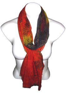 Sheer Light Weight Warm Burnt Orange Red Black Green Solid #121 Pashmina Scarf Shawl Cashmere/Silk Risdarling / Cashmera Co.